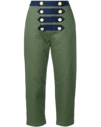 Manoush - Cropped Sailor Trousers - Lyst