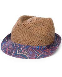 Etro - Paisley Print Brim Hat - Lyst