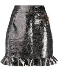 Fausto Puglisi - Cracked Leather Skirt - Lyst
