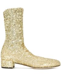 Dolce & Gabbana - Sparkly Stretch Ankle Boots - Lyst