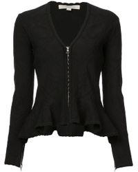 Jonathan Simkhai - Zipped Peplum Style Jacket - Lyst