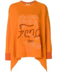 Fendi - Flared Logo Sweater - Lyst