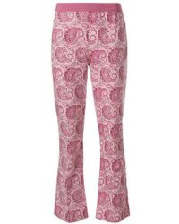 Twin Set - Paisley Print Cropped Trousers - Lyst
