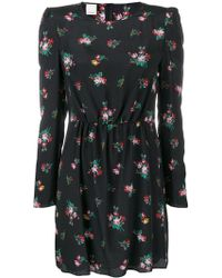 Pinko - Ruched Floral Mini Dress - Lyst