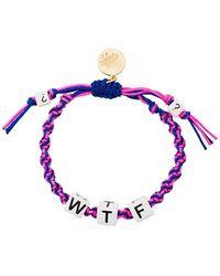 Venessa Arizaga - Wtf Bracelet - Lyst