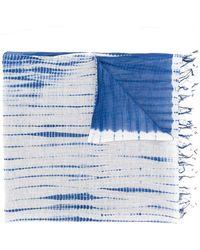 Suzusan - Colour Block Tassel Trim Scarf - Lyst