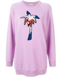 Tomas Maier - Palm Tree Embroidered Sweater - Lyst