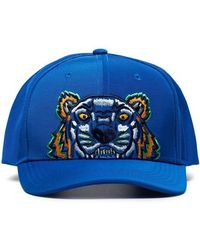 KENZO - Tiger Embroidered Logo Cap - Lyst