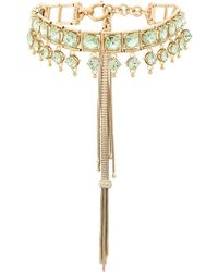 Prada - Bejewelled Tassel Necklace - Lyst