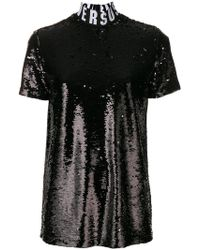 Versus - Sequin Embellished T-shirt - Lyst