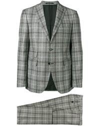 Tagliatore - Checked Two-piece Suit - Lyst