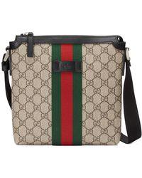Gucci - Borsa a tracolla piatta GG Supreme - Lyst