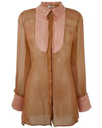 Valentino - Semi Sheer Blouse - Lyst