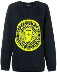 Balmain - Pullover mit Logo - Lyst
