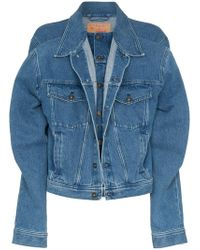 Y. Project - Double Layer Long Sleeve Denim Jacket - Lyst