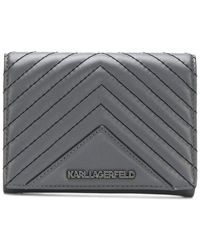 Karl Lagerfeld - Klassic Quilted Fold Wallet - Lyst