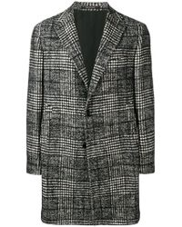 Tagliatore - Checked Coat - Lyst