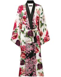 Dolce & Gabbana - Floral-print Robe - Lyst