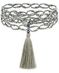 Night Market - Tassel Detail Necklace - Lyst