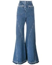 Esteban Cortazar | High Waist Flared Jeans | Lyst