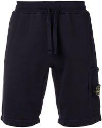 Stone Island - Shorts con vita elasticizzata - Lyst
