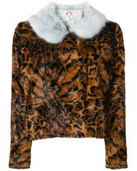Shrimps   Betsy Leopard Print Faux Fur Jacket   Lyst