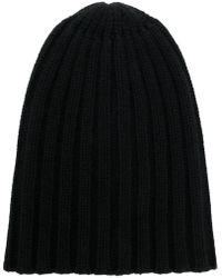 Laneus - Rib Knit Beanie - Lyst
