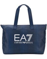 EA7 - Logo Tote - Lyst