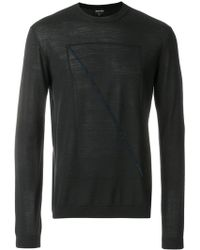 Giorgio Armani - Front Prined Longsleeved Jumper - Lyst