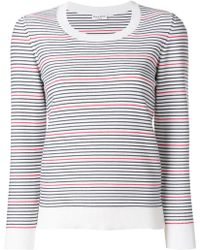 Sonia Rykiel - Round Neck Striped Jumper - Lyst