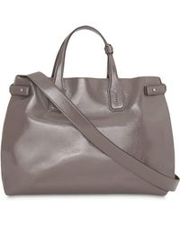9e79647938c Lyst - Burberry Medium Embossed Leather Tote in Green