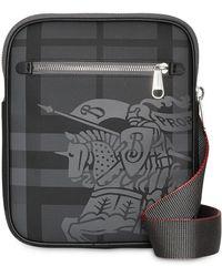 Burberry - Petit sac à bandoulière à carreaux London et logo - Lyst