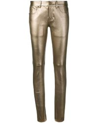 Saint Laurent - Skinny-Jeans im Metallic-Look - Lyst