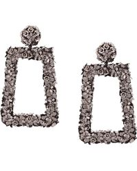 Sachin & Babi - Floral Frame Earrings - Lyst