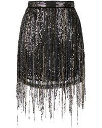 Amen - Sequinned Mini Skirt - Lyst