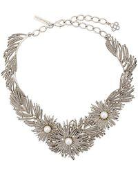 Oscar de la Renta - Pearl Burst Necklace - Lyst