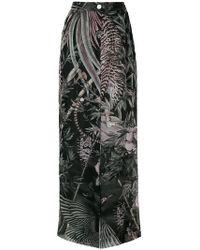 flared nature print trousers - Multicolour Just Cavalli Mds82aPkUI