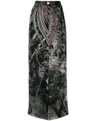 Just Cavalli - Flared Nature Print Trousers - Lyst
