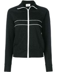 Dondup - Stripe Detail Zipped Sweatshirt - Lyst