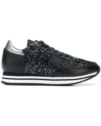 Philippe Model - Glitter-panelled Trainers - Lyst