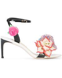 Sophia Webster - Flower Appliqué Sandals - Lyst