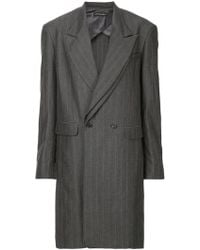 Y. Project - Double Breasted Coat - Lyst