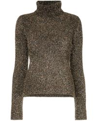 OSMAN - Glitter Roll Neck Sweater - Lyst