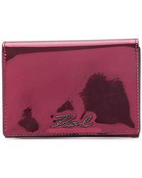 Karl Lagerfeld - Signature Gloss Fold Wallet - Lyst