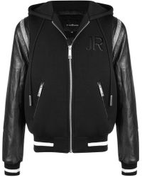 John Richmond - Hooded Bomber Jacket - Lyst
