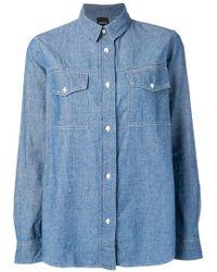 Aspesi - Chambray Shirt - Lyst