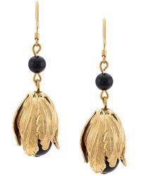 Oscar de la Renta - Delicate Flower Drops Earrings - Lyst