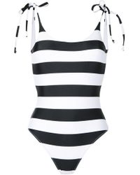 The Upside | Tropical Stripe One-piece Swimsuit | Lyst