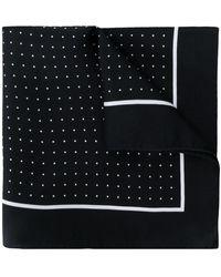Dolce & Gabbana Carré de poche à pois - Noir