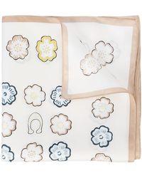 COACH - Tea Rose Print Scarf - Lyst